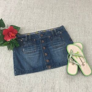 "Billabong ""The Mini"" Denim Miniskirt Junior Size 7"